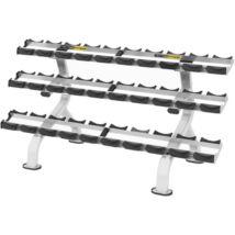 3 soros súlyzótartó állvány 15 pár súlyzóhoz -Vector Fitness