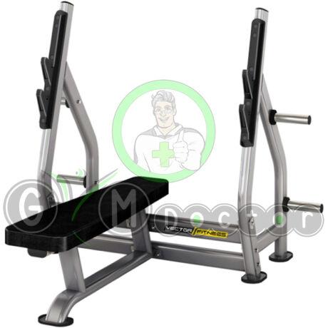 Fekvenyomó pad súlytárcsa tartóval -Vector Fitness