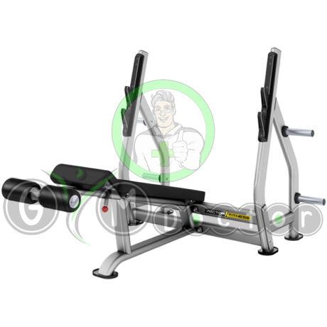 Negatív fekvenyomó pad súlytárcsa tartóval -Vector Fitness